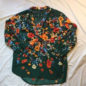 Market And Spruce Floral Print Flowy Blouse